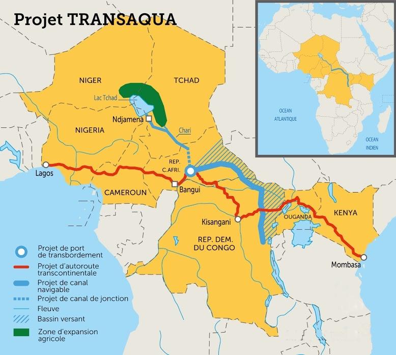 Carte Afrique Lac Tchad.Realimenter En Eau Le Lac Tchad Un Grand Projet Pour Les